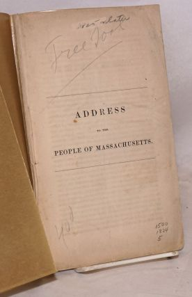 Address to the people of Massachusetts