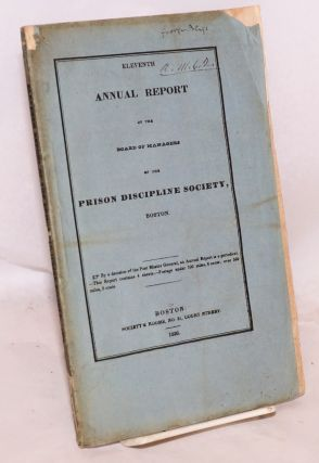 Eleventh annual report of the Board of Managers of the Prison Discipline Society, Boston. Prison...