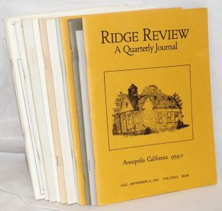 Ridge review, issues of concern to all lovers of the northern California coastal ridges [12...