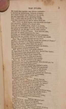Wat Tyler: a dramatic poem, in three acts, with A vindication of Tyler, by Thomas Paine [excerpted]
