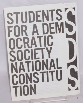 National Constitution. Students for a. Democratic Society