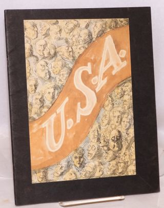 U.S.A. [publisher's promotional booklet introducing the trilogy]. John Dos Passos, Reginal Marsh