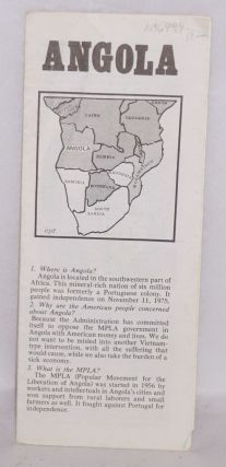 Angola (informational brochure). Angola Solidarity Coalition.