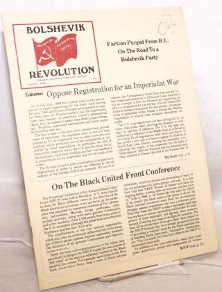 Bolshevik revolution. No. 5 (August 1980