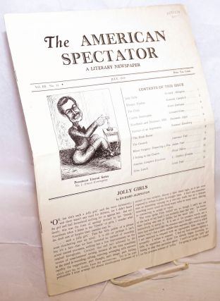 The American Spectator: a literary newspaper, vol. 3, no 31, July, 1935