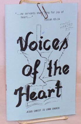 Voices of the heart [program and personal letter/picture]