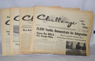 Challenge. official publication of the Young People's Socialist League. (four issues