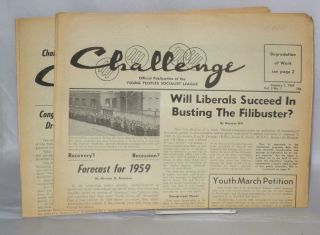Challenge. official publication of the Young People's Socialist League. (four issues)