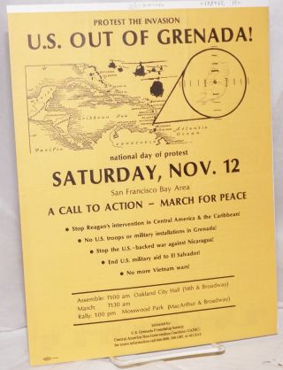 Protest the invasion; US out of Grenada! [handbill]. US-Grenada Friendship Society