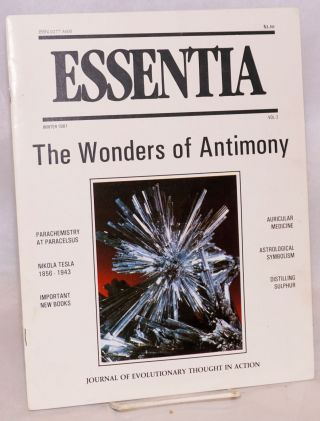 Essentia: Journal of Evolutionary Thought in Action, Vol. 2, Winter 1981. Art Kunkin.