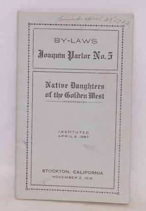 By-laws, Joaquin Parlor no. 5