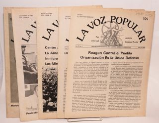 La voz popular: una revista noticiera del Partido Obrero Democratico vol. 3 nos 1-4 & vol. 4, no. 1