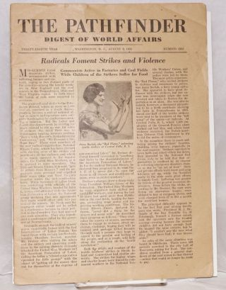 Pathfinder; Digest of World Affairs - August 8, 1931