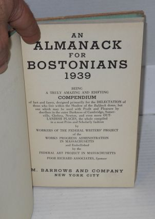 An almanack for Bostonians 1939 being a compendium of fact and fancy etc