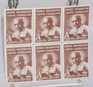 George Washington Carver Foundation / Tuskegee Institute [six perforated stamps]