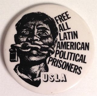 Free all Latin American Political Prisoners / USLA [pinback button