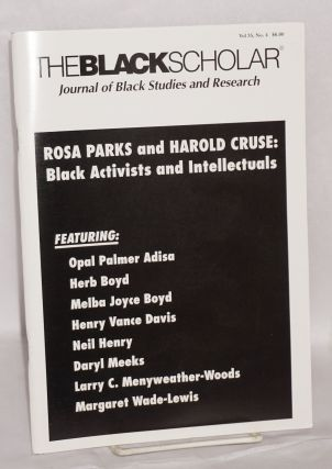 The Black Scholar: Journal of Black Studies and Research; Volume 35, number 4, Winter 2006....