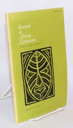 Research in African literatures: volume 14/number 1/spring 1983; special issue on Wole Soyinka...