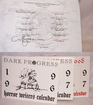 Horror Writers Calendars: 1996, 1997 and Days of Blood: Dracula centennial calendar 1997 [Three...