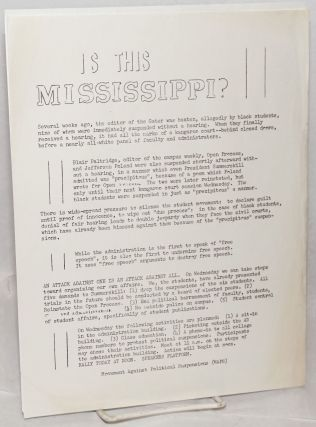 Is this Mississippi? [handbill