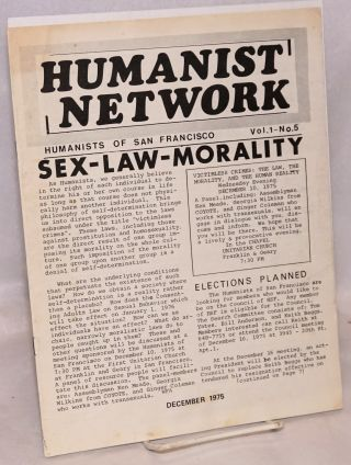 Humanist Network. vol. 1 no. 5 (Dec. 1975