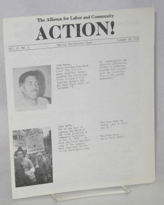 Action! Vol. 2, no. 1 (Oct. 25, 1976) Special anniversary issue. Alliance for Labor, Community...