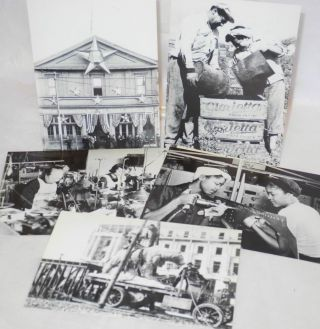 Set of six labor-themed postcards