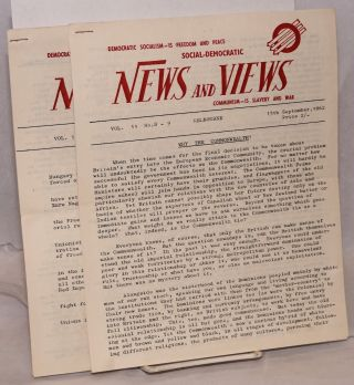 Social-Democratic news and views. Vol 11 nos. 8/9, 10/11 (15 Sept. and 1 Nov. 1962