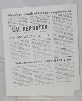 Cal Reporter. Vol. 1 no. 4 (March 24, 1958