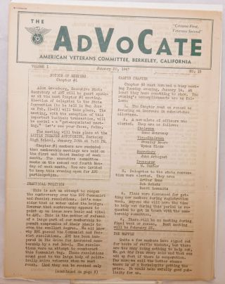 The Advocate [eight issues]