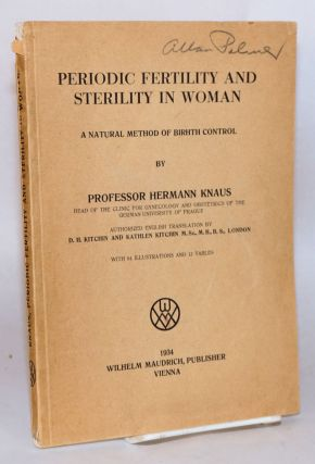 Periodic fertility and sterility in woman: a natural method of birth control (typo in subtitle...