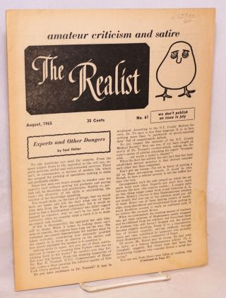 The realist [no.61], June 1965. Paul Krassner, ed