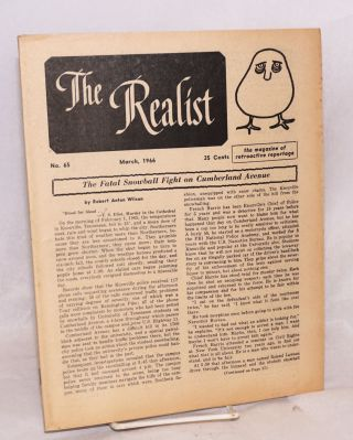 The realist [no.65], March 1966. The magazine of retroactive reportage. Paul Krassner, ed