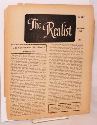 The Realist [no.63-B] December 1965. Paul Krassner