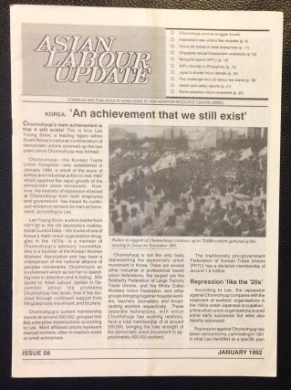 Asian Labour Update Issue 6 (January 1992