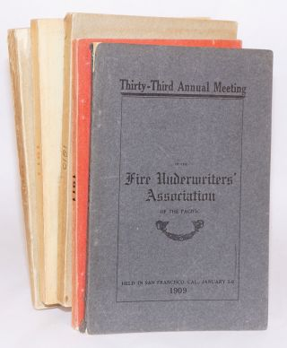 Proceedings of the Thirty-Third [-Fourth, -Fifth, -Seventh, -Ninth] Annual Meeting of the Fire...
