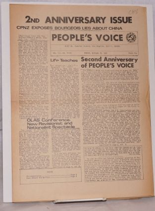 People's Voice [five issues of the newspaper]