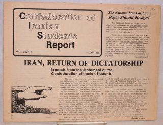 Confederation of Iranian Students Report. Vol. 4 no. 2 (May 1981) and no. 3 (November 1981