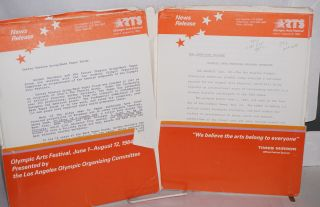Olympic Arts Festival Los Angeles, June 1 - August 12, 1984 [packet of news releases]