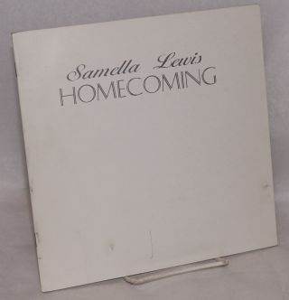 Homecoming: October 1 - November 30, 1996. Samella Lewis, William Pajaud