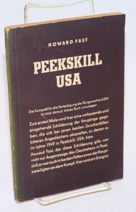 Peekskill: USA [in German]. Howard Fast