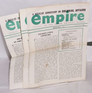 Empire: journal of the Fabian Colonial Bureau [three issues