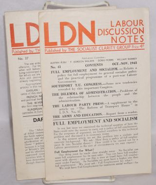 Labour Discussion Notes. Nos. 37 and 41 (Dec. 1942, Oct.-Nov. 1943