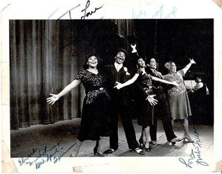 "Two 8x10 publicity photos for ""Ain't Misbehavin'"" signed by cast members"