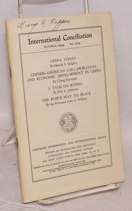 [Two issues of International Conciliation with articles about China]