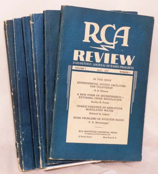 RCA Review A Quarterly Journal of Radio Progress. Volume I Number 4 April 1937 [with] v.II n.1;...