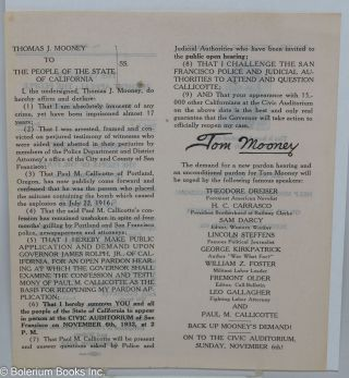 [Two leaflets for rallies in support of Mooney, issued in the form of a court summons]