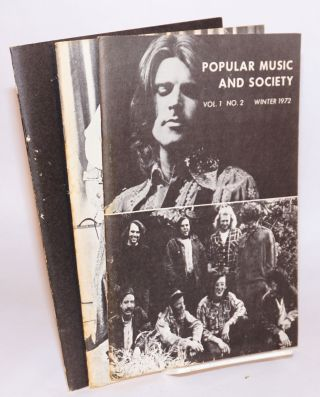 Popular music and society: vol. I, nos. 1 - 4, Fall 1972 - Summer 1972 (complete run of first volume)