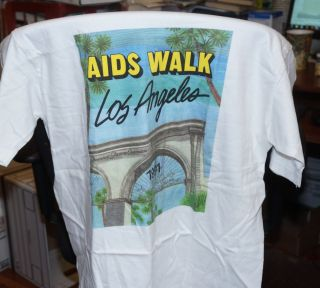 T-shirt for the 1991 AIDS Walk Los Angeles. AIDS Walk Los Angeles