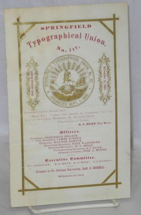Springfield Typographical Union, no. 117. Semi-annual report, November 15, 1869